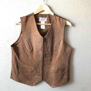 Brown Suede Vest size Medium